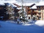 View of apartment from les Coches chairlift