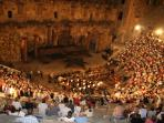 Aspendos Roman Amphitheatre performance of Aida under the stars