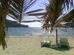 Big sandy beach in Saplunara