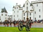 Blair Castle in Blair Atholl.  They also have lovely gardens to walk around in.