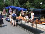 Numerous iinteresting stalls in Bansko Town Centre