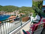 View towards village of Brna from balcony
