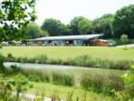The Weir Bistro & Wildlife Centre overlooking our canal just outside the village