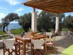 Dining area at the veranda