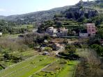 Green lush valley - a view from close to the Casa Azzurra