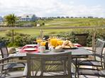 TERRACE WITH VIEWS OVER GOLF COURSE TOWARDS FISTRAL BEACH