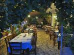Close to several fantastic tavernas serving fresh, locally produced food and housewines.