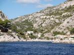 Les calanques de la Méditerranée ( Sormiou à 80 km )