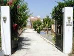 Gated, secure driveway