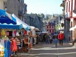 The wonderful market in the stunning town of Josselin