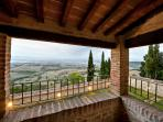 Spettacolare vista dalla veranda privata dell'appartamento Pianello