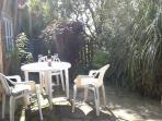 Glass of wine, sunny quiet surroundings...