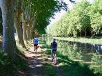 Biking along Canal Midi