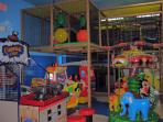 Pirate themed indoor kids play area