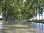 canal du midi, a two minute walk away - ideal for cycling, walking or boating