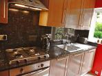 Fully equipped granite worktop Kitchen. Washing machine, Oven, Fan Extractor, Garden entrance