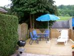Decking area at the cottage