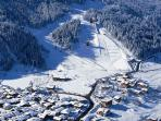 Courchevel 1300 from the air