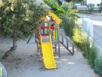 the playground is close to the restaurant seating so you can have a drink while the kid play