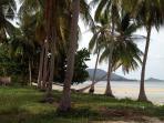 Unspoilt Natien beach, a quick two minute walk through coconut grove.