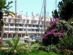 Gardens and one of the Almerimar marinas close to the apartment