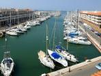 View of Almerimar marina from close to the apartment