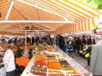 Cours Saleya in Nice, in 2 minutes walk.