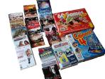 DVDs and Games inlcuding cards, dominoes etc, Also a selection of books for adults and children.
