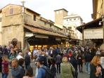 Ponte Vecchio in Florence - an hour on the train