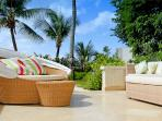 Outdoor living leading directly onto the beach and garden