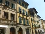 Traditional apartments in Piazza Mazzini, Pescia