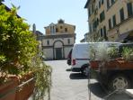 South end of Piazza Mazzini from outside Bar Pulter