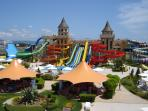 Our apartment is only 3 stops away from the Nessebar waterpark with the free shuttle bus.