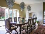Dining room with concertina doors to patio