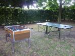 Giochi: ping-pong e calcio balilla