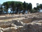 Ruins of the Greek Paleopolis at Sant Marti d´Empuries at 20 Km