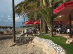 Enjoy a meal at the beach restaraunt