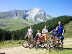 Mountain biking at the Col du Soulor