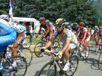 Mark Cavendish climbs past Les Artigaux in the 2010 Tour de France