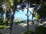 Park and sea view