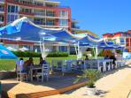 The beach bar - lovely place for your morning coffee, evening beer or refreshing drinks any time