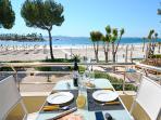 Beautiful terrace overlooking the beach of Alcudia.