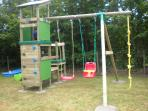 A super climbing frame & swings for the kids