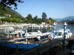 View from Piazza Matteotti across the boat moorings