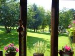 View on the parc from the living room