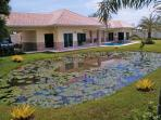 Lotus flower Villa with lotus  flower pond and garden