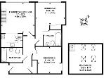 The floorplan shows you just how spacious it is - no poky bedrooms here!