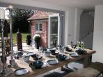 The big 'dining' kitchen opens directly onto the garden