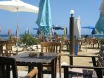 Beach Cafe 800 metres walk along the beach from villa