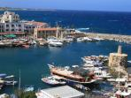 Kyrenia Harbour, 10 mins drive from Villa